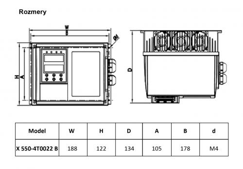 frekvenčný menič x550 2,2kw