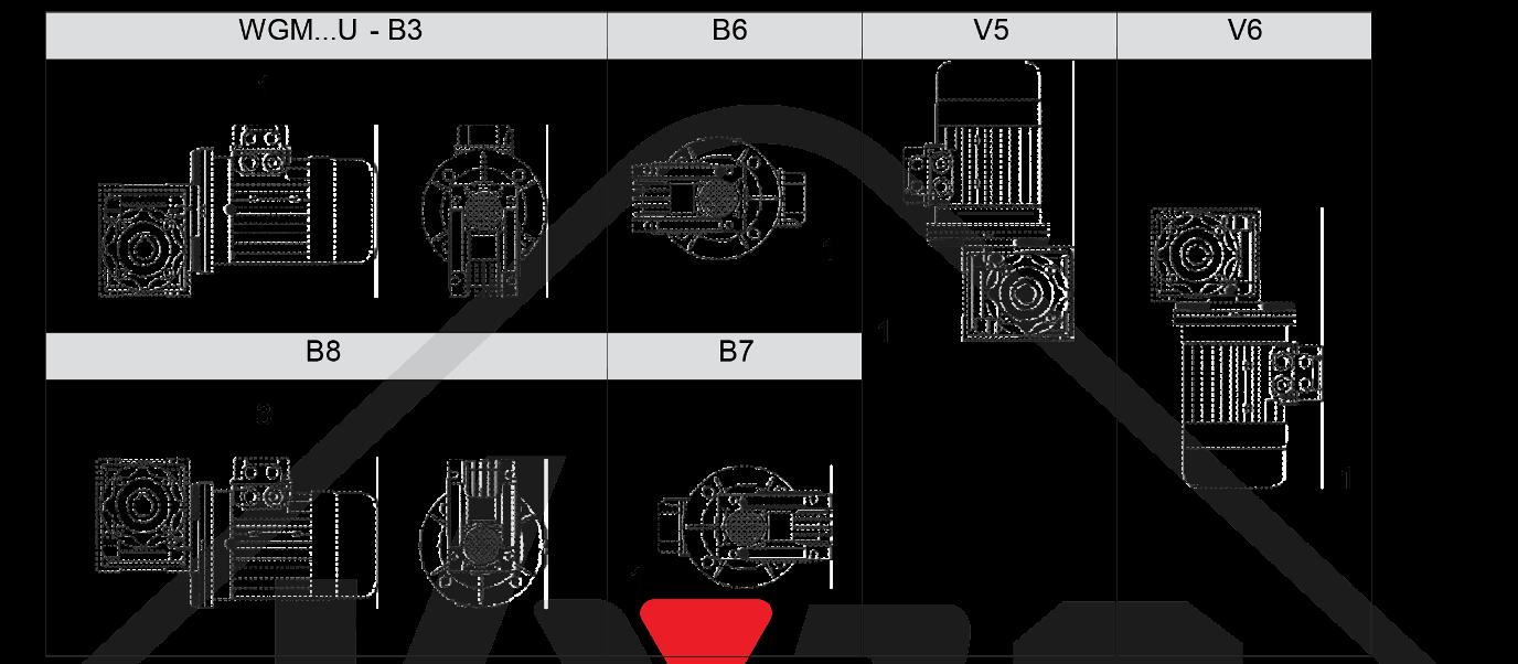 montážna poloha wgm030
